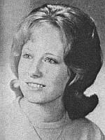 Yearbook image of Bonnie Woodward